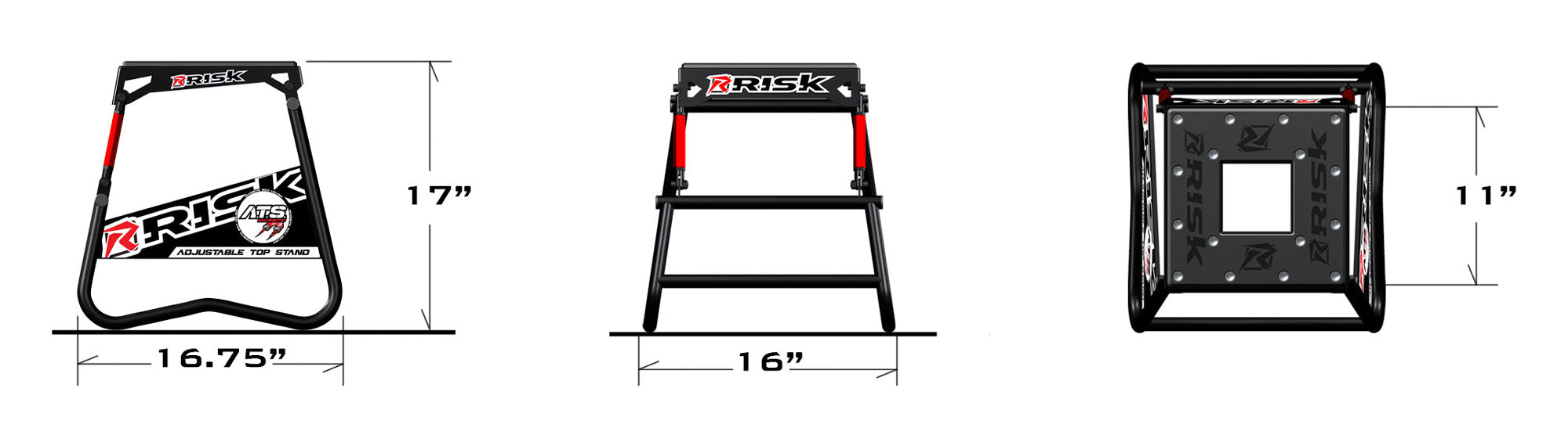 Risk Racing ATS Adjustable Top Moto Stand specs