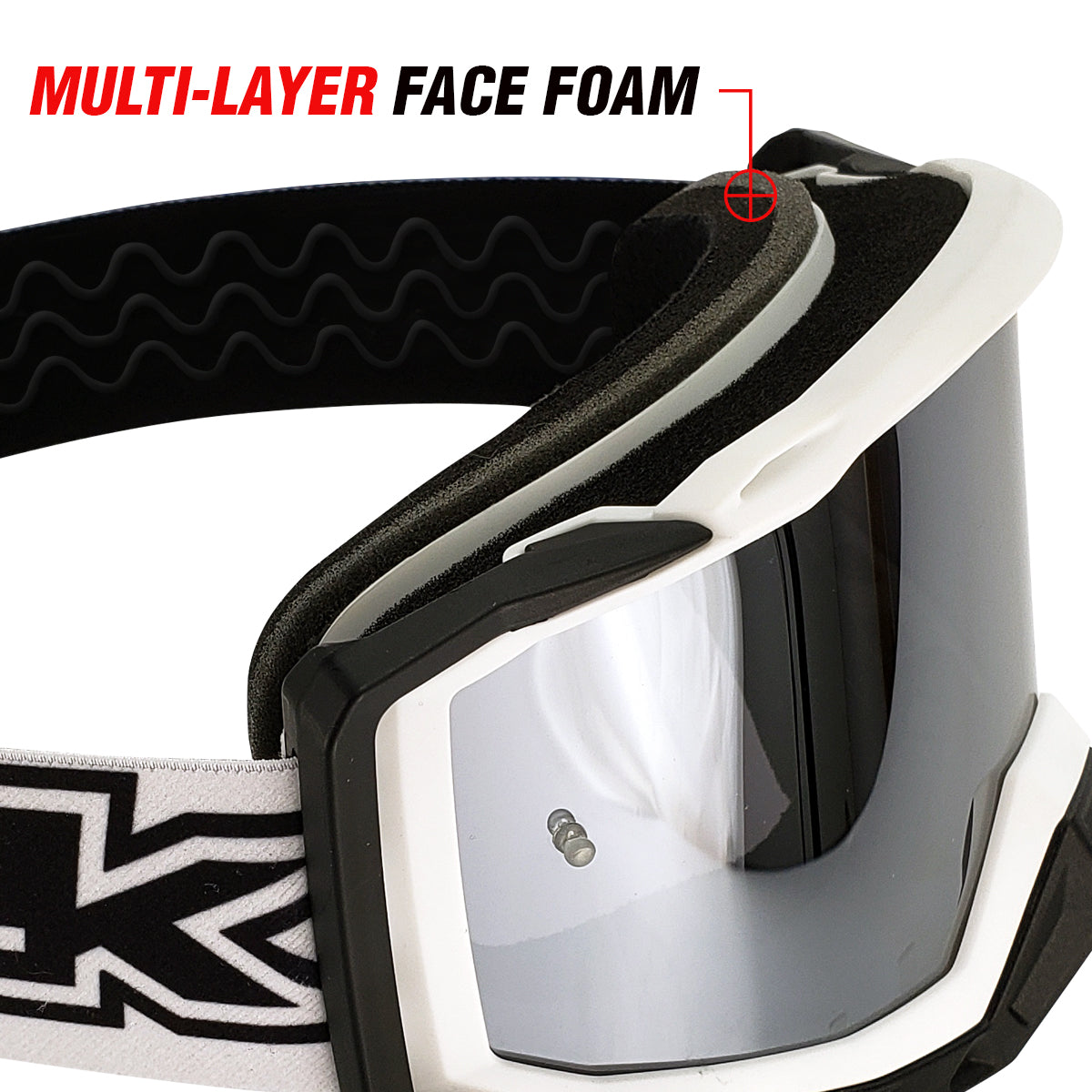 J.A.C. MX Goggles multi-layer foam
