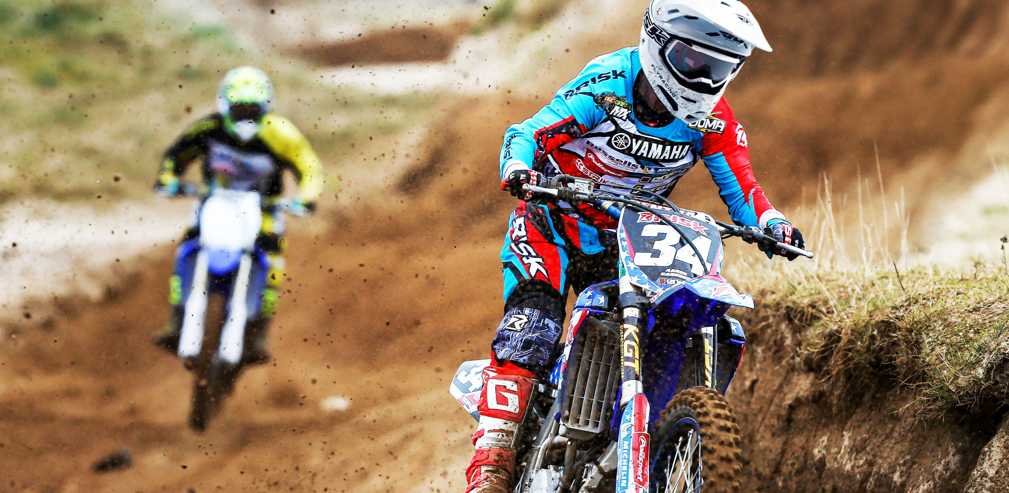 J.A.C. MX Goggles on the track