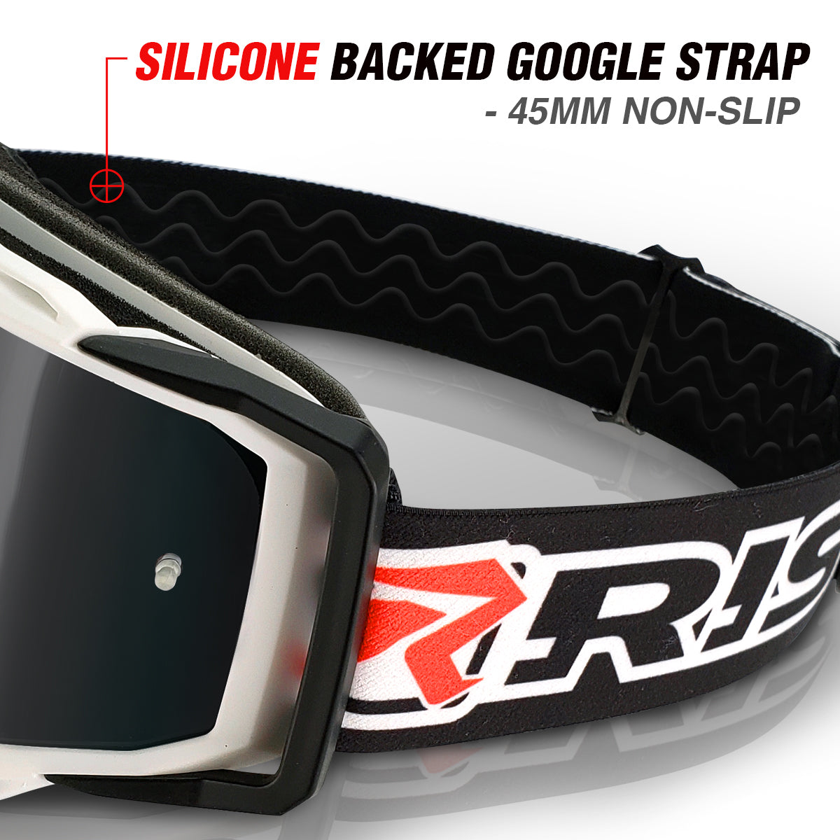 J.A.C. MX Goggles oversized strap