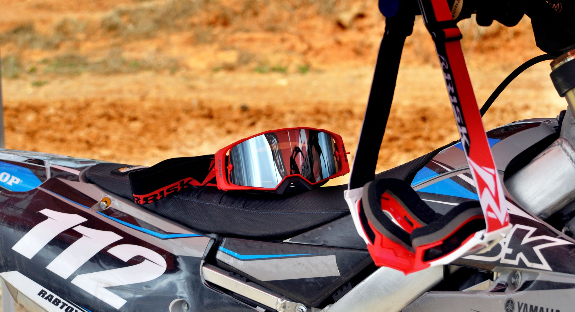J.A.C. V2 MX Goggles on the track