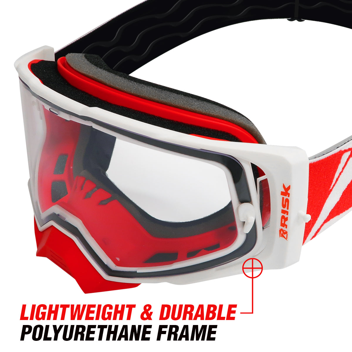 J.A.C. V2 MX Goggles durable frame and outriggers for comfort