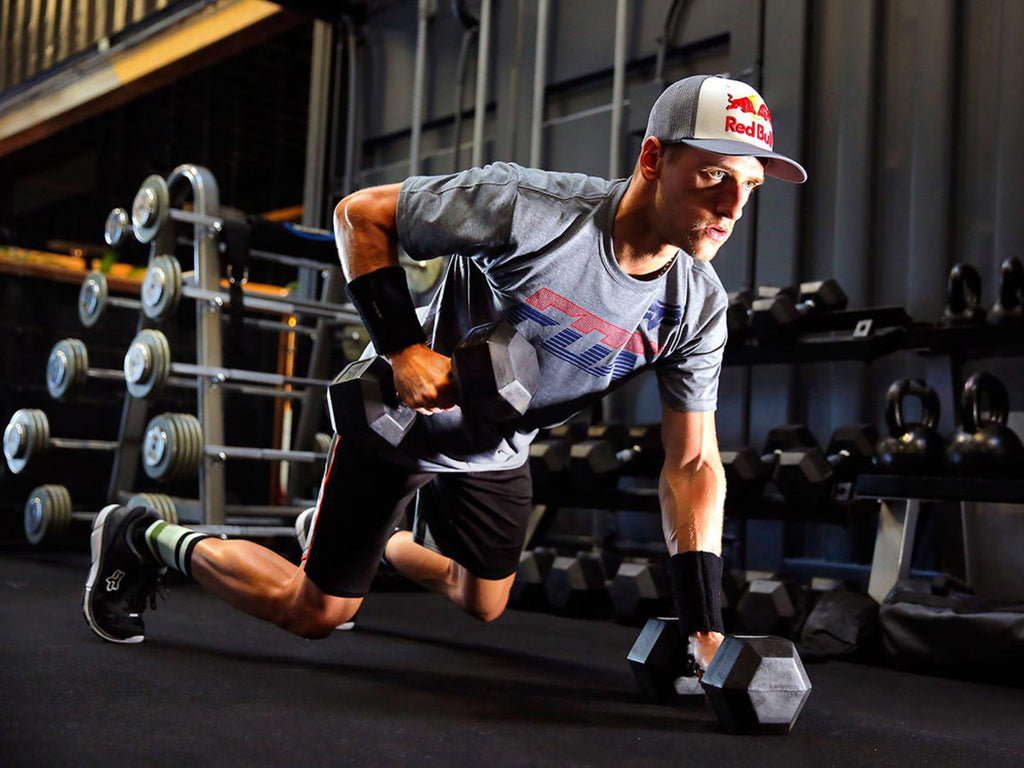 Ken Roczen strength training for motocross with free weights