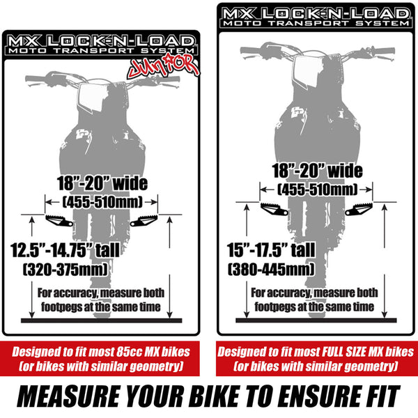 Risk Racing Lock-N-Load Size Guide