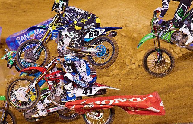 mx number 65 casing number 41's head during a very serious motocross crash