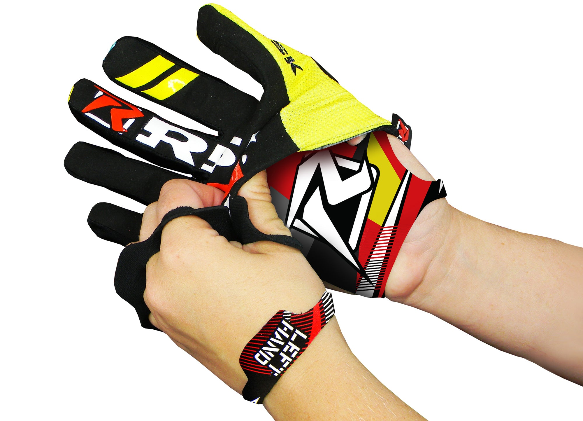 Wear Risk Racing Palm Protectors under gloves