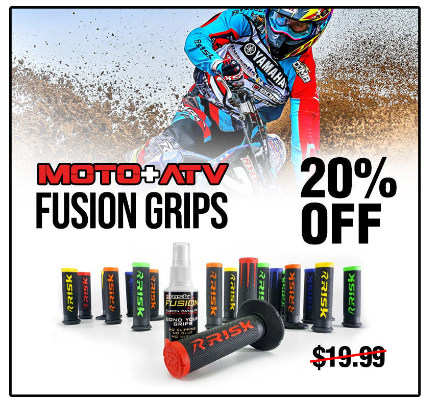 Risk Racing Deal of the Month - Fusion 2.0 Grips for Dirt bike/ATV/MTB