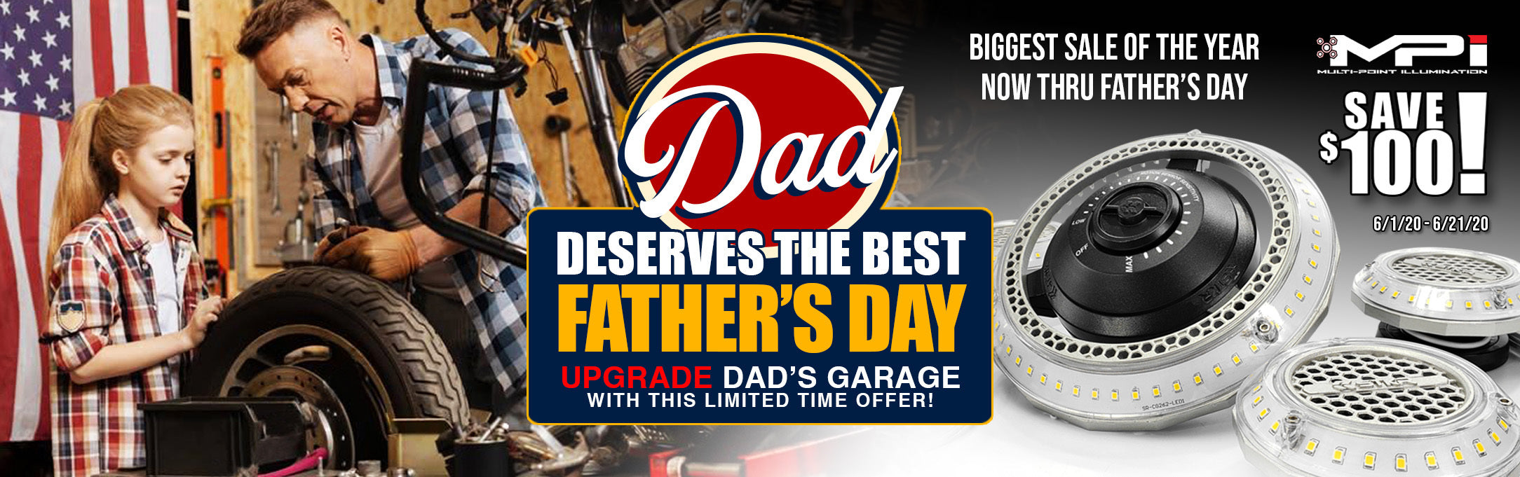 Risk Racing Father's Day Sale - Work Lights and Garage Lighting