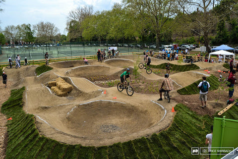 Pump track to train for motocross racing
