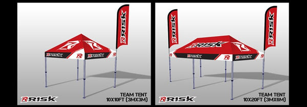 Motocross Pit Tent 10x10 Pop Up Canopy - Risk Racing