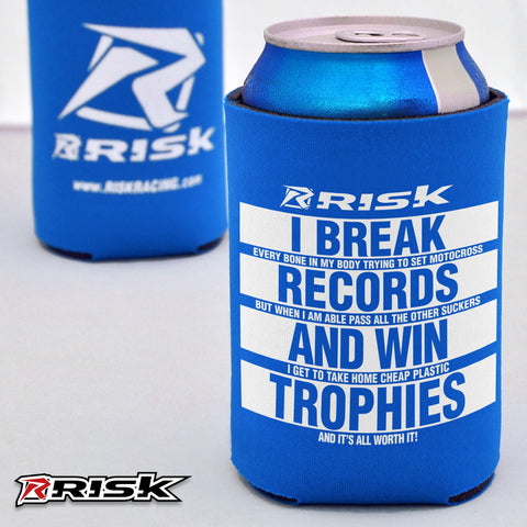 Risk Motocross Koozie - BLUE