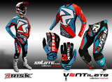 Salute Moto Gloves - Machine motocross dirt bike motorcycle glove
