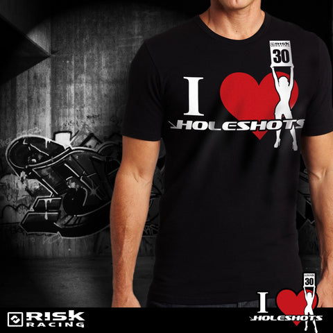 Risk Racing I Heart Holeshots Motocross T Shirt