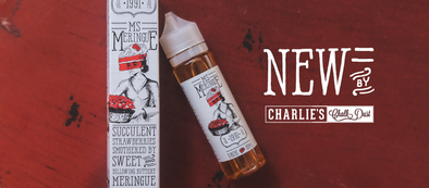 Meringue Family by Charlie's Chalk Dust features premium e-juice flavors such as lemon meringue pie, strawberry meringue pie, and rainbow sherbet meringue pie. A delicious after dinner vape!