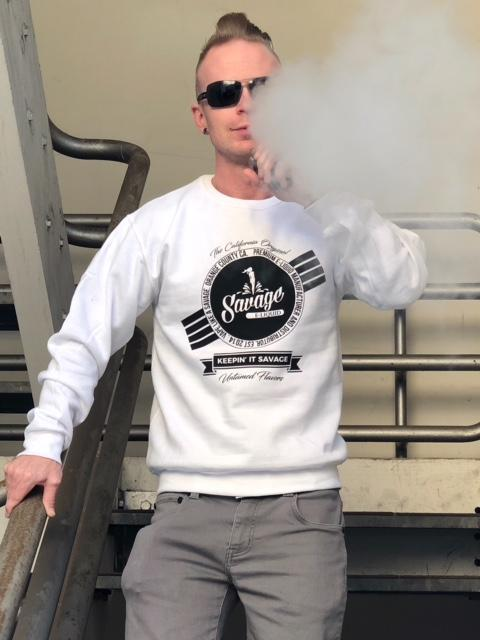 Crew Neck by Savage E-Liquid - White