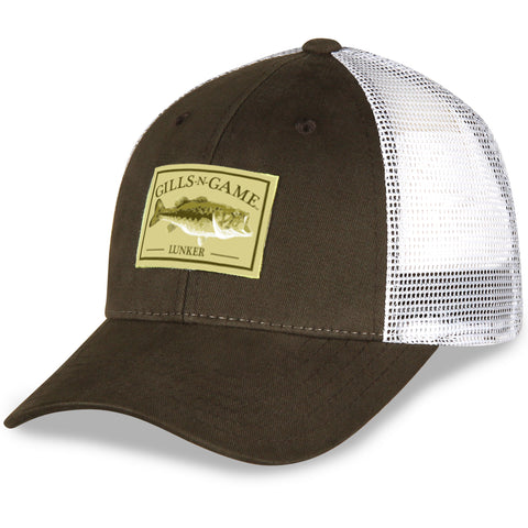 2cad59fd8b0b6 Largemouth Twill and Mesh Fishing Hat. Gills-N-Game ...