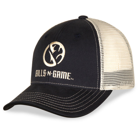 Gills-N-Game Navy Blue Twill with Mesh Back Hat