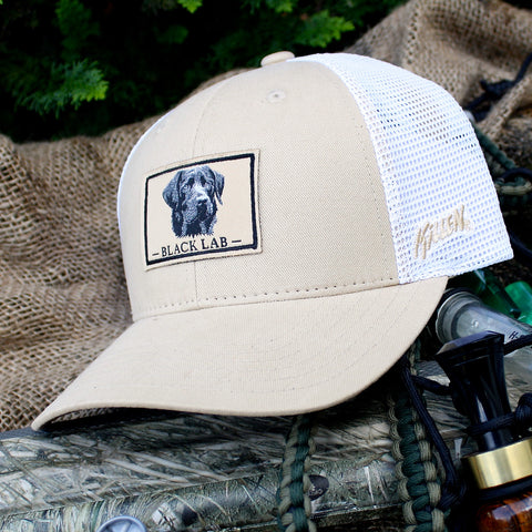 Black Lab Patch Twill and Mesh Hat with Velcro Closure 85abe84c399