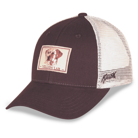 Yellow Labrador Retriever Twill and Mesh Hat