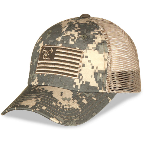 NEW TrueTimber Digi Camo Flag Hat