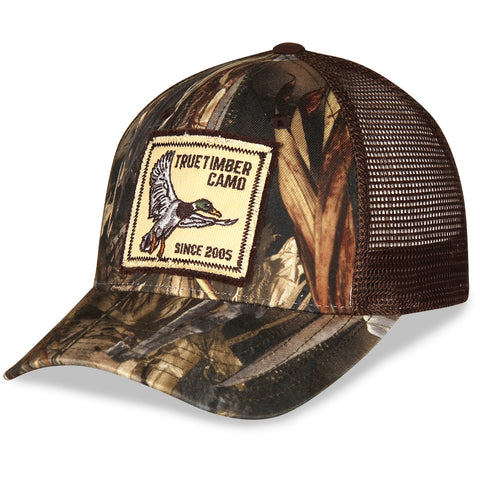Mallard Duck True Timber Camo Twill and Mesh Hat with Velcro Closure