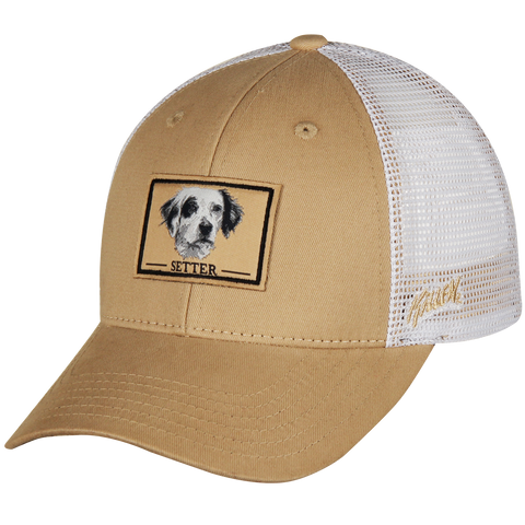 Setter Dog Twill and Mesh Hunting or Sporting Dog Hat