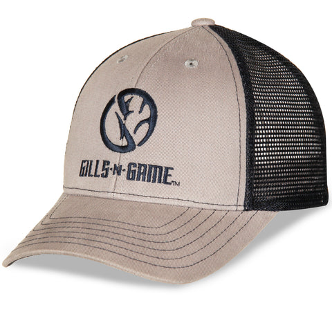 Gills-N-Game Gray with Navy Mesh Hat
