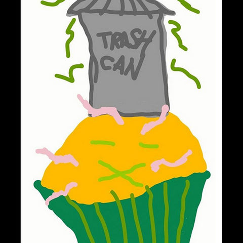 ugly cupcake drawing