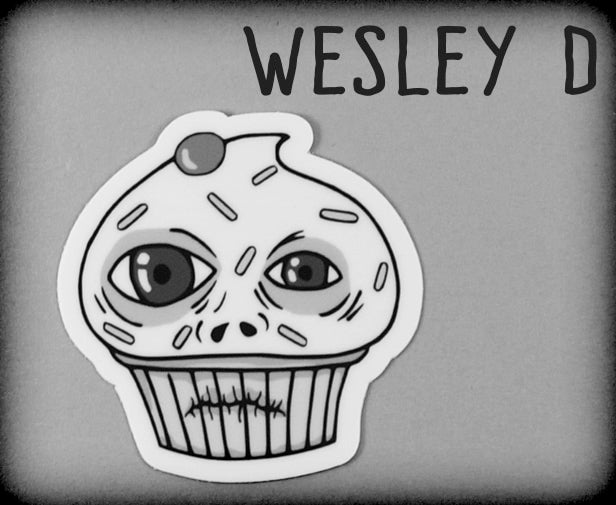 Ugly Cupcake Sticker for Wesley D