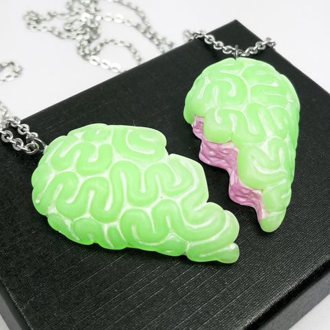 green and pink candy bff brain set