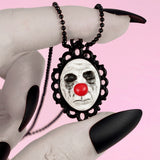 scary clown cameo necklace