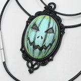 Jacko Cameo Necklace Blue Freeze