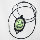 halloween jackolantern cameo necklace