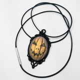orange jackolantern necklace
