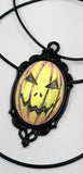 halloween pumpkin necklace pinterest