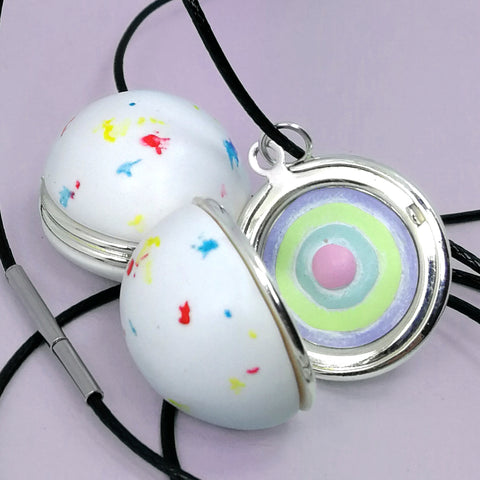 Jawbreaker Locket Necklace with Candy Layers