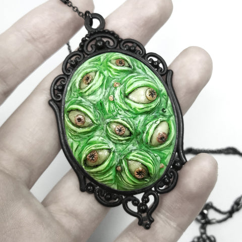 Glow in the Dark Monster Eye Necklace