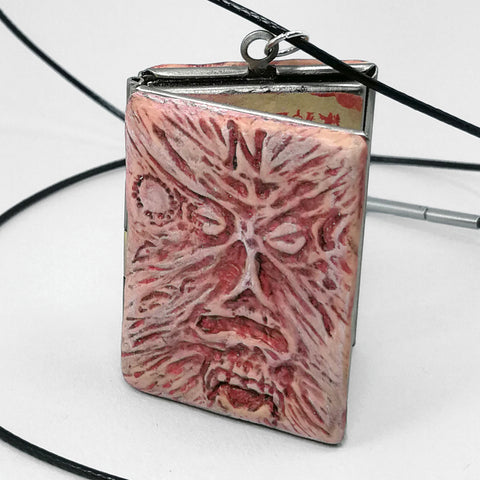 Necronomicon Locket in Freshly Bound Red