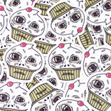 crazy cupcake vinyl stickers