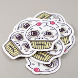 cupcake die cut stickers