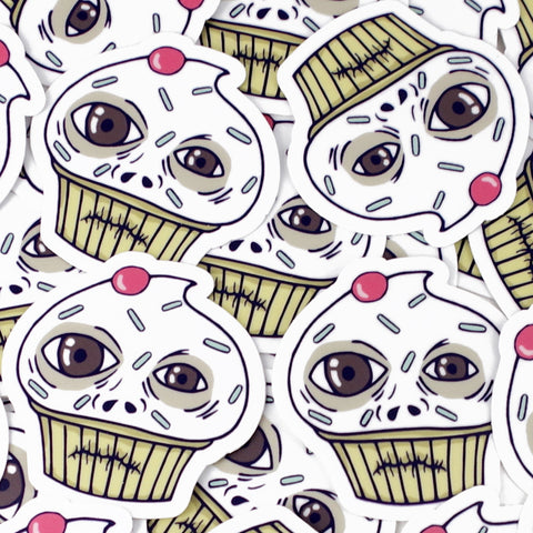 ugly cupcake die cut stickers