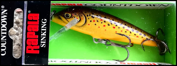 color Redfin Spotted Minnow VERY RARE RAPALA COUNTDOWN CD 5 cm RFSM
