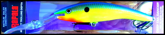 Clown Gold 42 grams LARGEST RAPALA DEEP TAIL DANCER TDD 13 cm CLG color