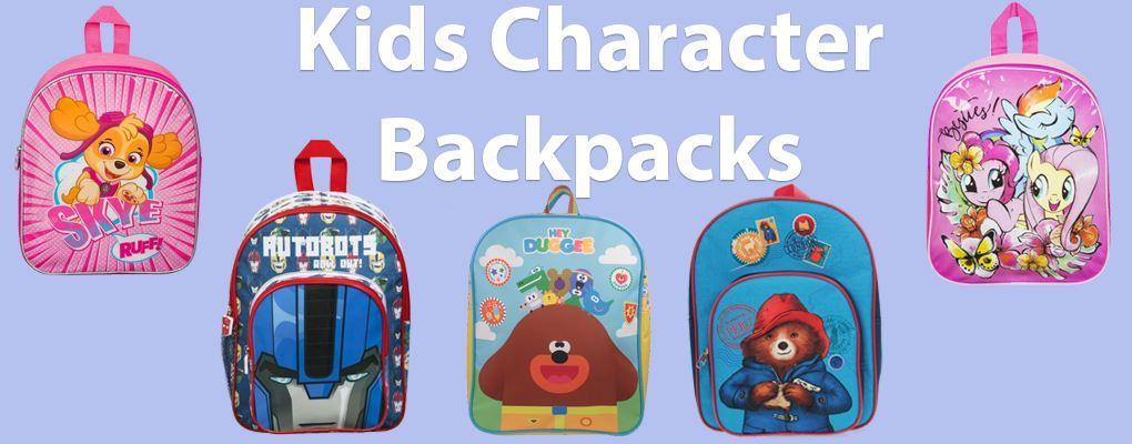 Our range of Kids Character Backpacks