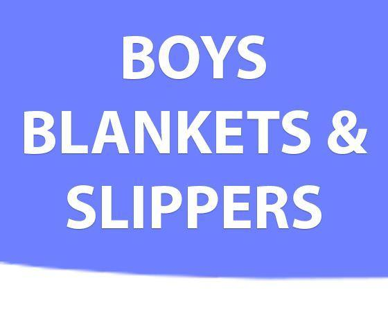 Boys Blankets & Slippers