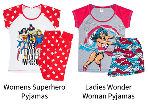 Womens Superhero Pyjamas