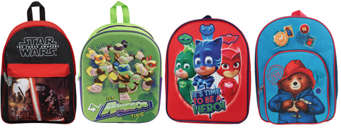 Boys character backpacks