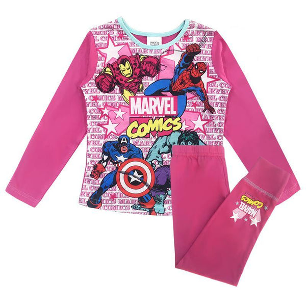 Girls Marvel Pyjamas