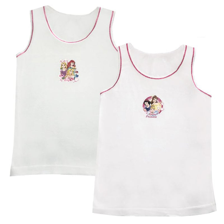 Girls Disney Princess Vests - Pack of 2