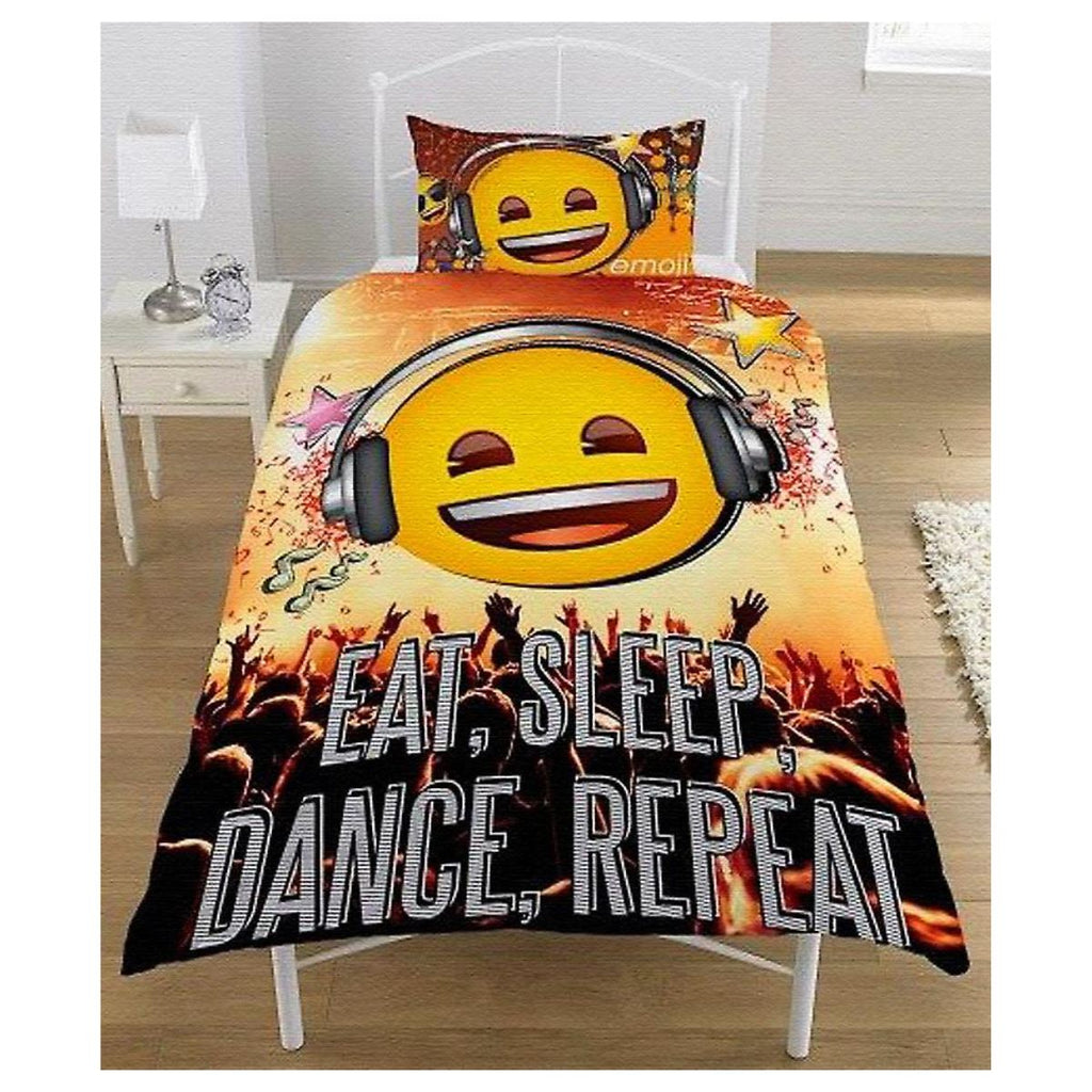Emoji Bedding - Single - Eat, Sleep, Dance, Repeat Bedding Emoji
